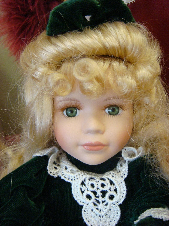 collectors choice porcelain doll megan by lanishiddentreasures. Black Bedroom Furniture Sets. Home Design Ideas