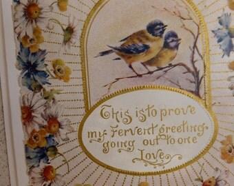 Antique VALENTINE Card, OOAK,  UPCYCLED Romantic FunkAndMore Vintage