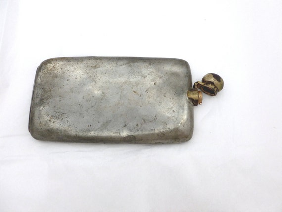 Reserve for Maz - Vintage Classic BRITISH PEWTER FLASK Made in Sheffield England // FunkAndMore