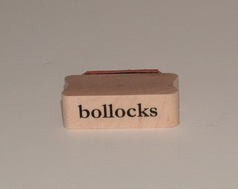 BOLLOCKS Rubber Art Stamp