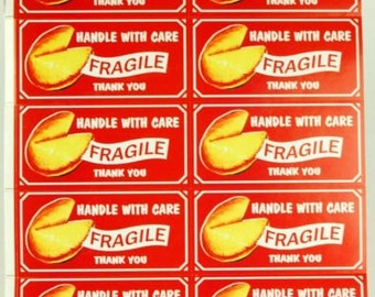 Kitschy Handle with Care Stickers for Shipping Fragile Items  Lot of 40 Stickers FREE SHIPPING
