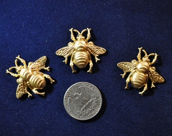 Three Bumble Bee Decorative Elements  SHIPPING INCLUDED