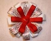 Heart bow clip