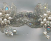 Vintage Pearl Earrings, Large with Beads, Sequins and Faux Pearls, Post Style.