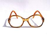 RESERVED FOR GABRIELA Brown Eye glasses Vintage 70s