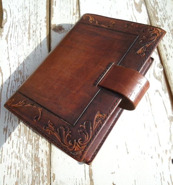 Vintage Leather Cover Diary Notebook Brown Cover