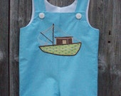 Hunter Shortall with Shrimp Boat Applique Sizes 6 months - 6 years