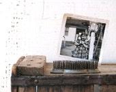 metal spiky flower frog - vintage garden spring / summer decor - farmhouse cottage country decor / photo holder