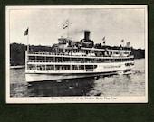 "Steamer ""Peter Stuyvesant"" of the Hudson River Line - 1940's postcard"