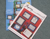 Inspirational cross stitch instructions - 2 leaflets from the 1980s