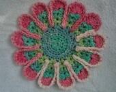Flower Cotton Dish/Wash Cloth