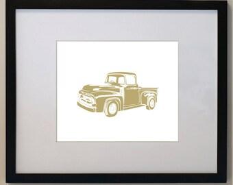 Custom Children's Vintage Pick Up Truck Print 11 x 14 nursery wall art
