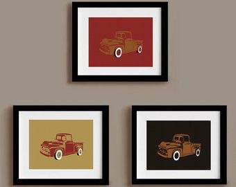 Vintage Truck Prints Collectors Series White Wall Tire Edition 8 x 10