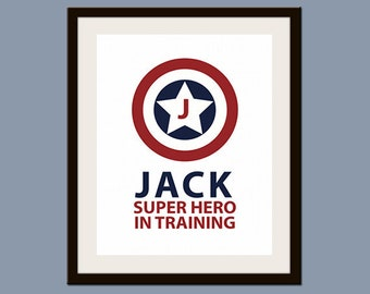 Personalized Superhero in Training Print 8 x 10