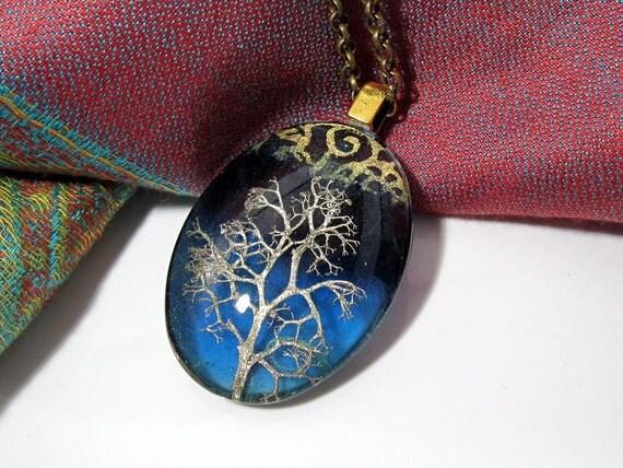 Reindeer Lichen Necklace, Moss Jewelry, Leaf Jewelry