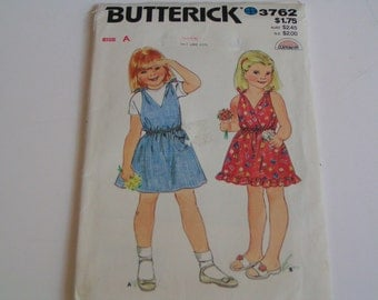 Vintage Butterick Pattern 3762 Girls Dress
