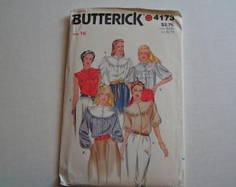 Vintage Butterick Pattern 4173 Misses Blouse