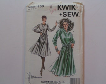 Vintage KWIK SEW 1238 Misses Dress UnOpen
