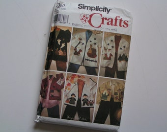 Simplicity Pattern Crafts 7032 Misses Appliued Jacket Permanent Ink Transfer Included