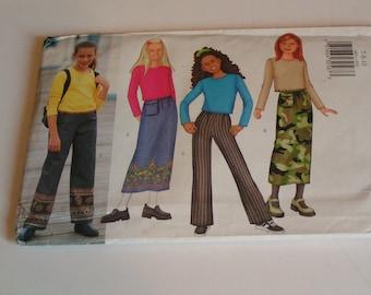 Butterick Pattern 6851 Girls Top Skirt Pants