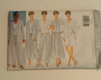 Butterick Pattern 4504 Misses Petite Jacket Top Skirt Shorts Pants