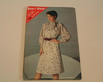 See Sew Pattern 5131 Misses Dress