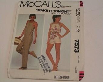 McCalls 7573 Make it Tonight Misses Jumpsuit