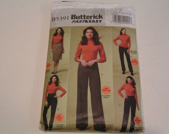 Butterick Pattern B5391 Misses Petite Skirt Pants