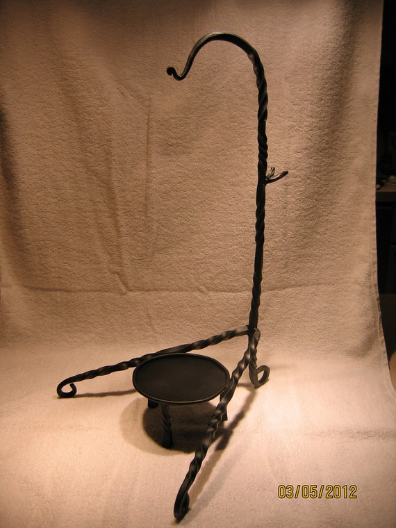Large cauldron and candle holder w/ detached stand for pagan, wiccan, wicca, witch, witchcraft, lantern, etc.
