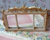 Miniature  Shabby Chic pink mirror / 2x Treasury Item
