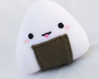 OniMiki, The Kawaii Onigiri Fleece Plush Toy for Children or Kids at Heart and Japan Lovers. GREAT Gift!