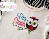 Owl Big Sister Embroidered shirt or onesie