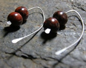 Red Jasper and Sterling Silver Earring