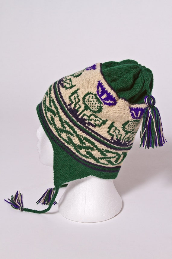 Scottish Thistle ear flap hat - Medium