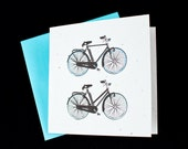 Friends, Couples That Ride Together.... Two Bicycles / Eco-Friendly Plantable Seeded Card