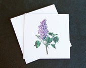 Lovely Lilac Flower Sprig / Eco-Friendly Plantable Seeded Card