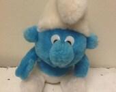 SALE 1980 Peyo Smurf Stuffed Animal