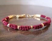 The Luck Collection Bracelet No.15 - Special Happiness Love Red Gold Friendship