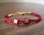 The Luck Collection Bracelet No.11 - Love Best Friends Forever Red Cord Friends