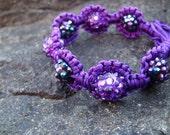 Reserved for SReed- Custom Purple beaded bracelet