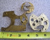 Steampunk Supplies No. CPP6 Lot of 3 Vintage Brass Clock Back Plates