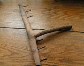 Rustic Wooden Coat Rack, Hook, Hanger