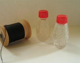 Mini Glass Salt & Pepper Shakers