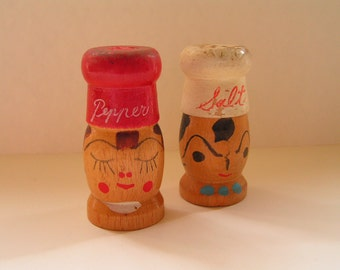 Wooden Salt & Pepper Shakers