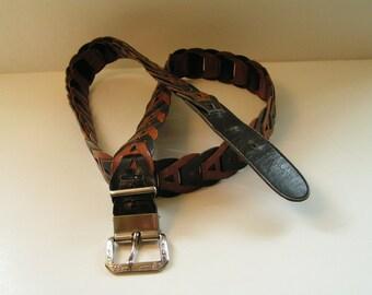 1970s Vintage Leather Belt