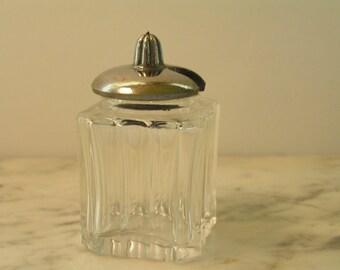 Czechoslovakian Cut Glass Covered Jar