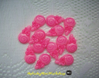 Flatback Pink Lollipop 4 pc