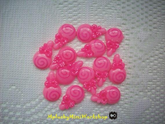 Flatback Pink Lollipop 4 pc