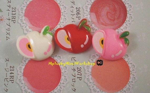 Flatback Mix color Apple 3pc 16mmx15mm