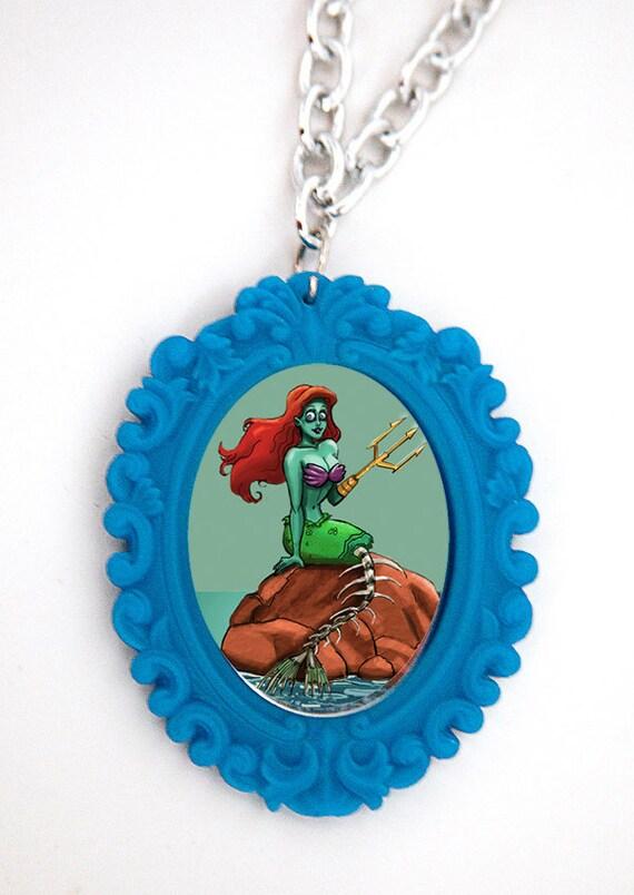 Zombie Mermaid Necklace